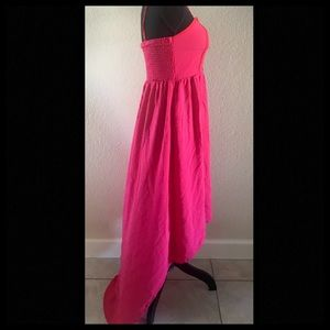 Pink and Red High Low Dress Size M